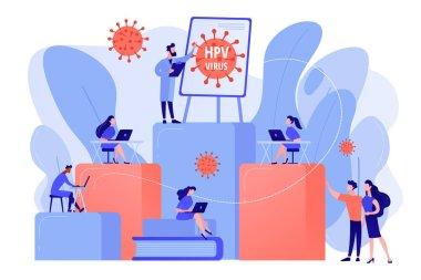 HPV education programs concept vector illustration