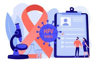 Risk factors for HPV concept vector illustration