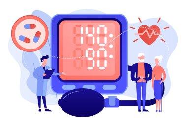 High blood pressure concept vector illustration.
