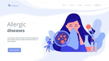 Allergic diseases concept landing page.