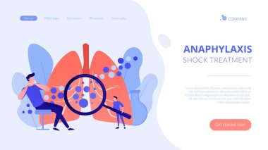 Anaphylaxis concept landing page.