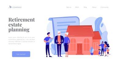 Retirement estate planning concept landing page.