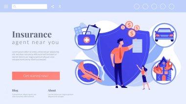 Insurance broker concept landing page