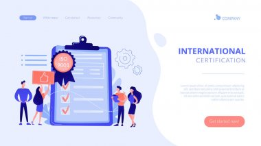 Standard for quality control concept landing page.