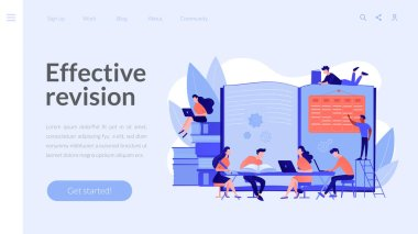 Revision week concept landing page