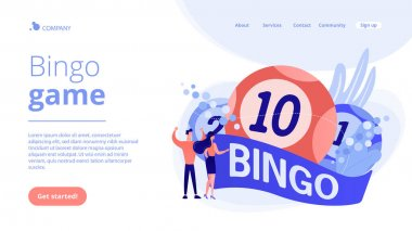 Lottery game concept landing page.