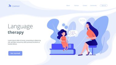 Speech therapy concept landing page