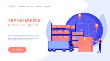 Transit warehouse concept landing page
