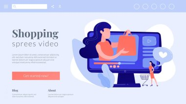 Shopping sprees video concept landing page.