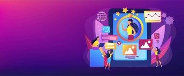 Online identity management concept banner header