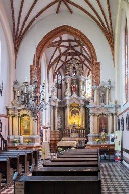 Vilnius, Lithuania - May 14, 2017: interior inside St. Anne Church. Vilnius, Lithuania