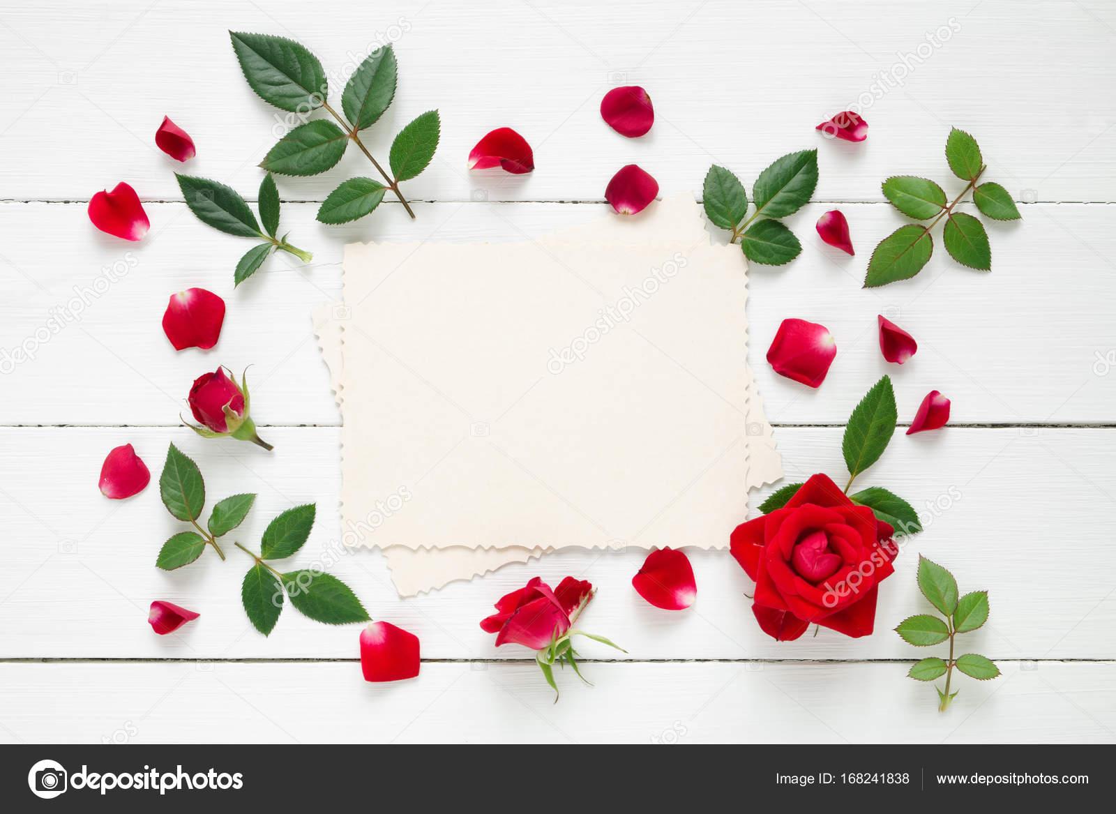 Blumen Bilderrahmen retro leere bilderrahmen für den innen und rote blumen auf
