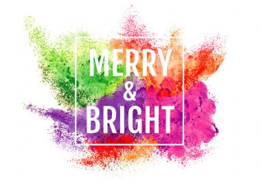 Abstract Christmas background with powder and particle explosion, vector over white background stock vector