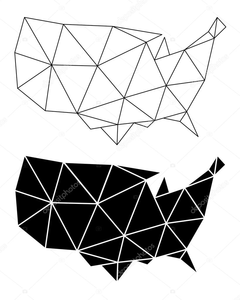 Geometric USA map vector Stock Vector beaubelle 128006794