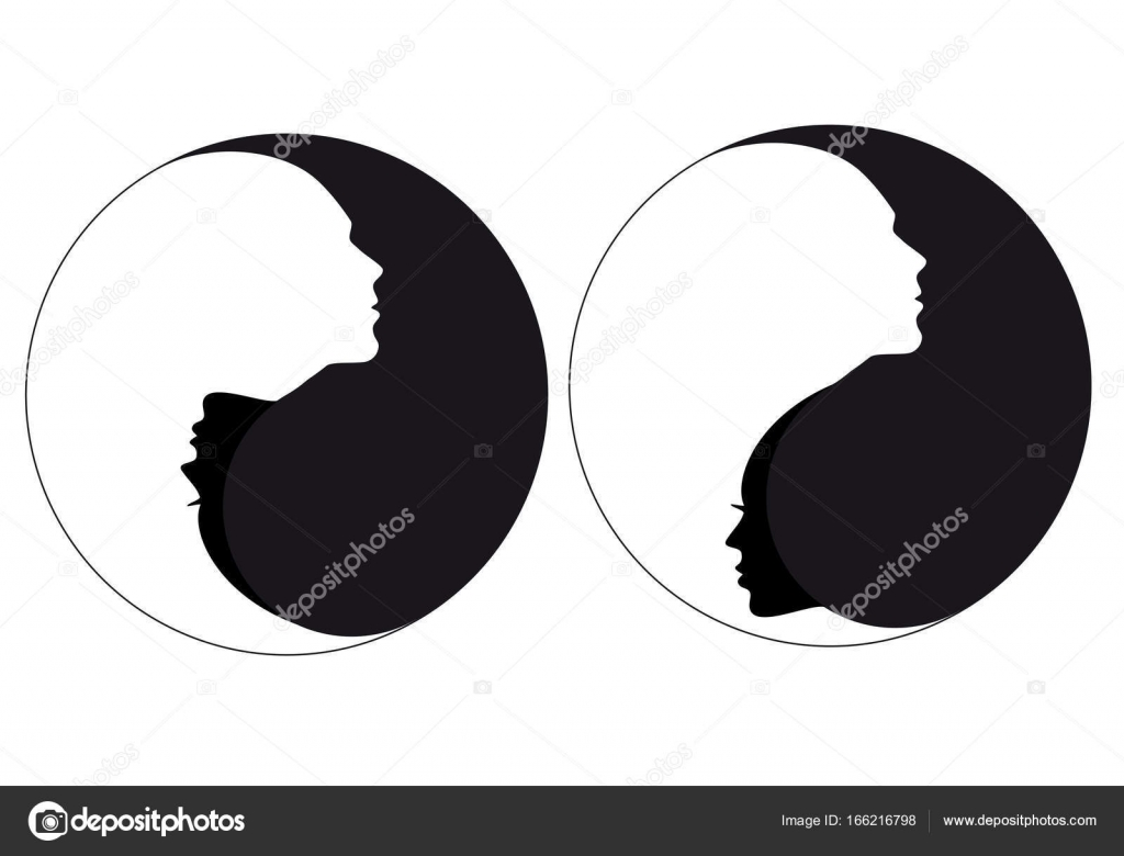 Yin Yang Sign Man And Woman Vector Stock Vector Beaubelle