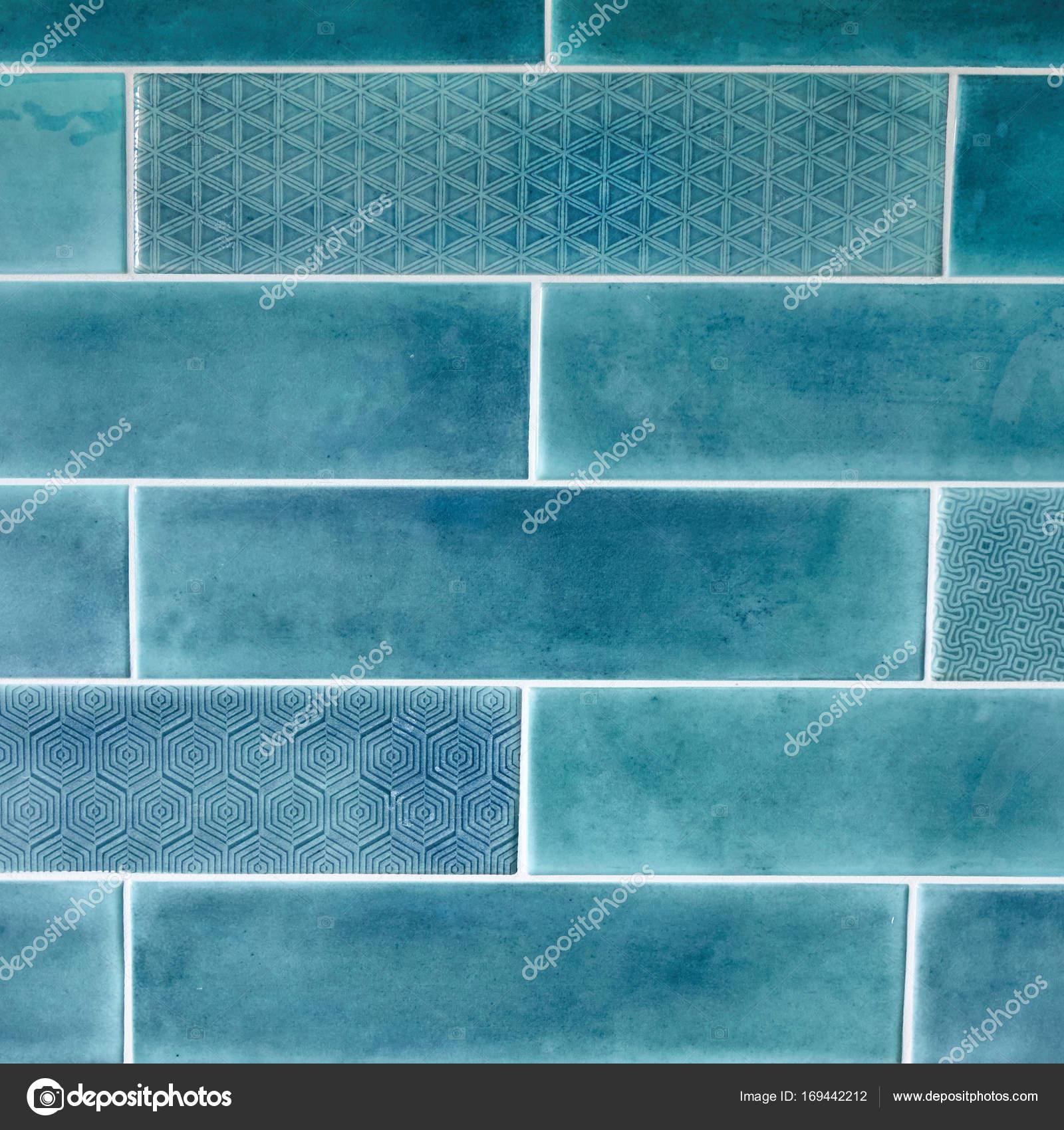 blue ceramic tiles — Stock Photo © artjazz #169442212