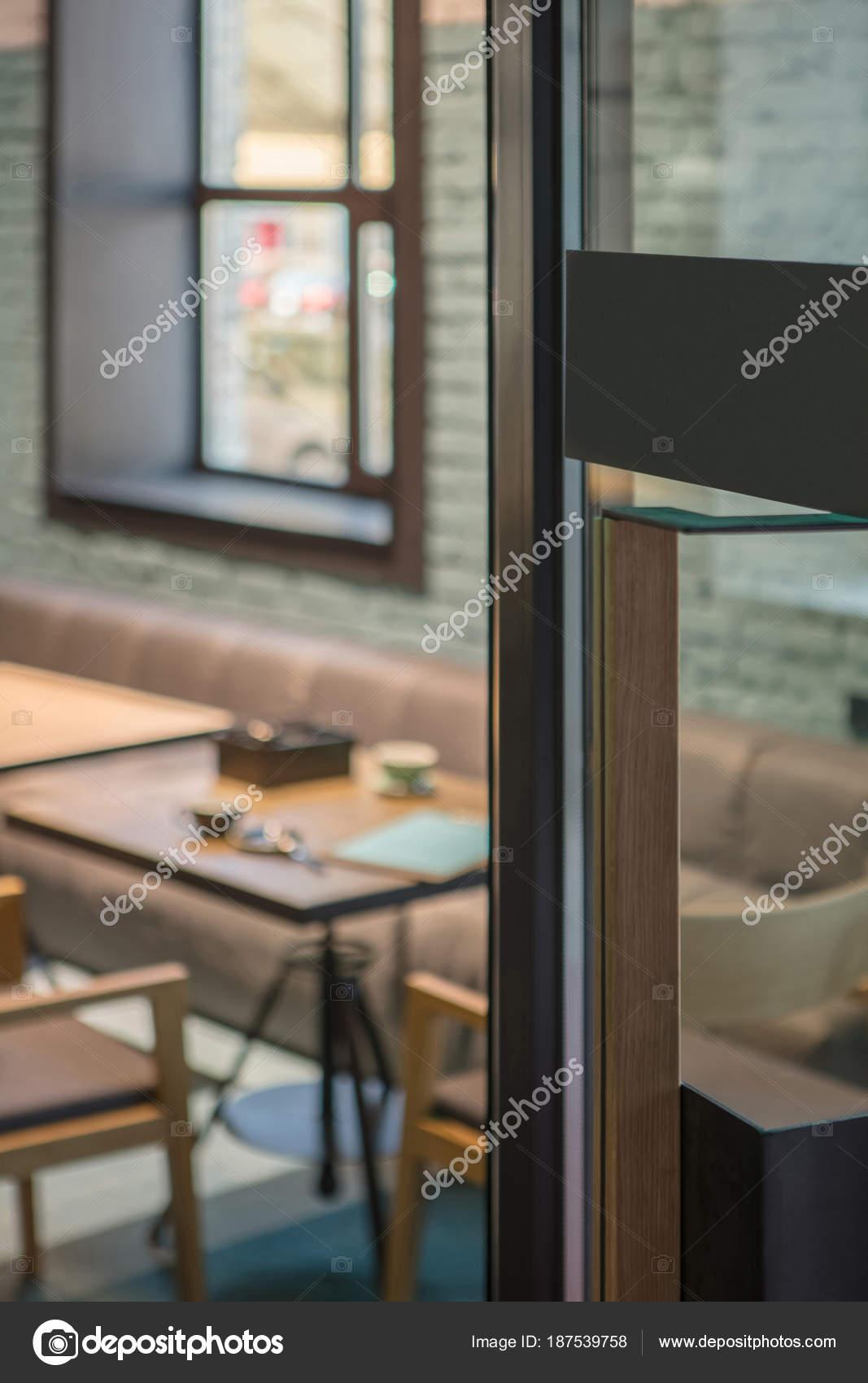 modern door handles. Modern Door Handle Glass Front Cafe Interior Design \u2014 Stock Photo Handles