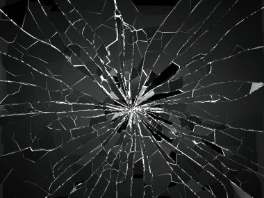 pieces of smashed glass