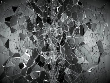Damaged or broken glass