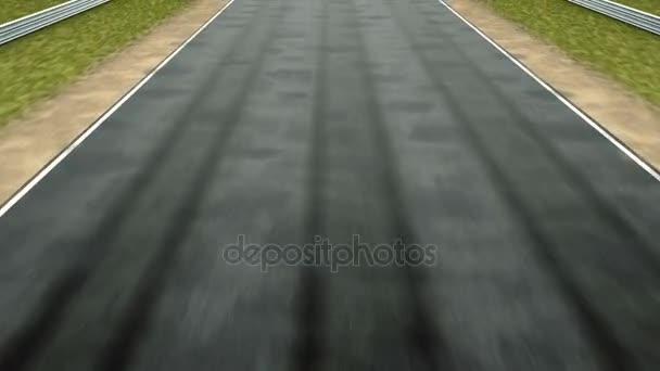 fotoaparát, přesun nad závodní dráha