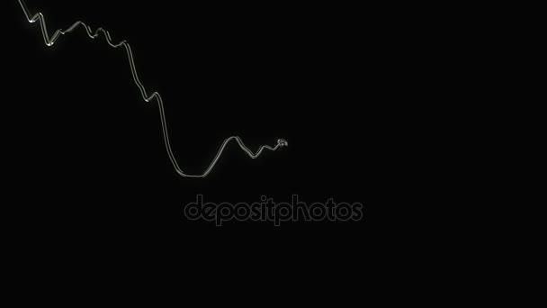 glowing arrow drawing graph
