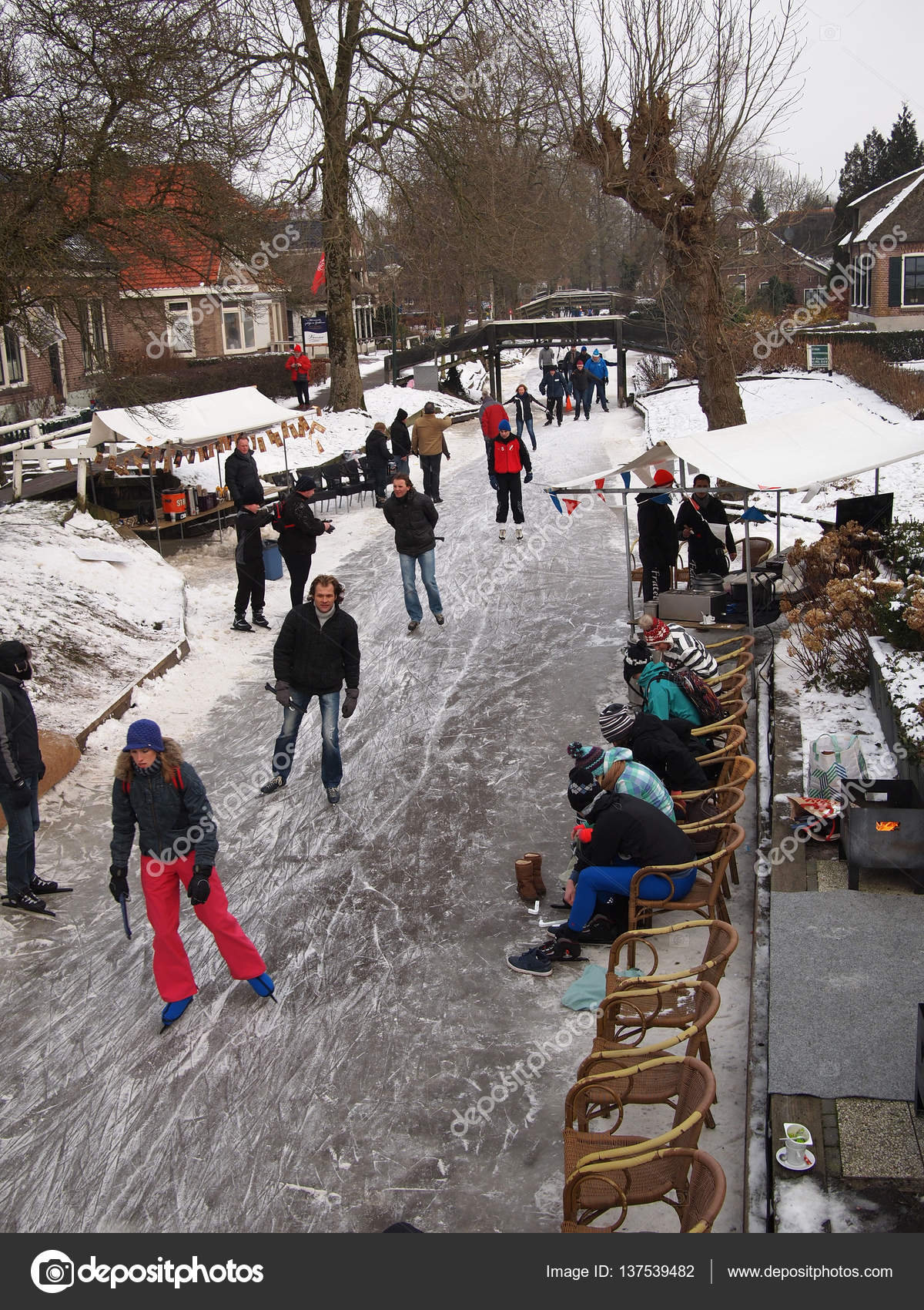 Winter Fun In The Netherlands Stock Editorial Photo C Pljvv1