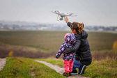 Fényképek anya és a gyermek, kezdve a drone