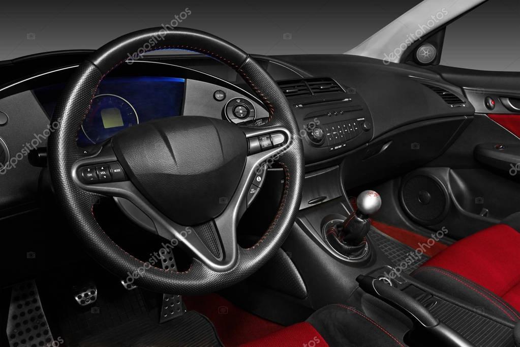 Interior of a modern automobile — Stock Photo © krasyuk #130361354