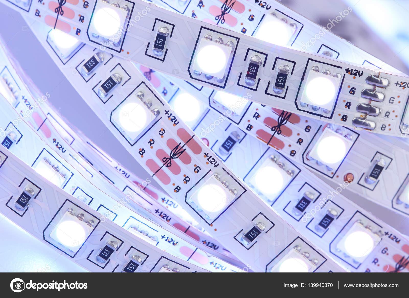 Diode strip led verlichting tape u stockfoto krasyuk