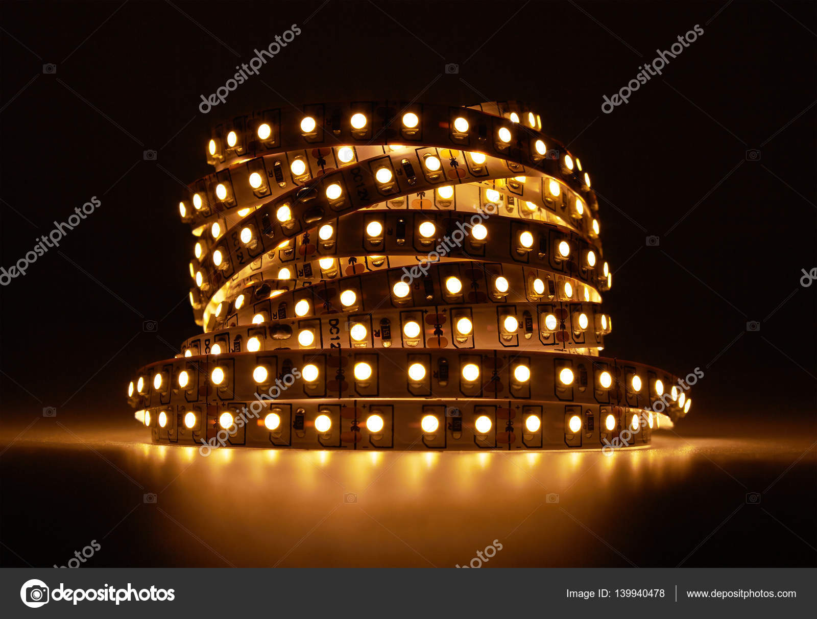 Diode strip led lights tape stock photo krasyuk 139940478 diode strip led lights tape close up photo by krasyuk aloadofball Image collections