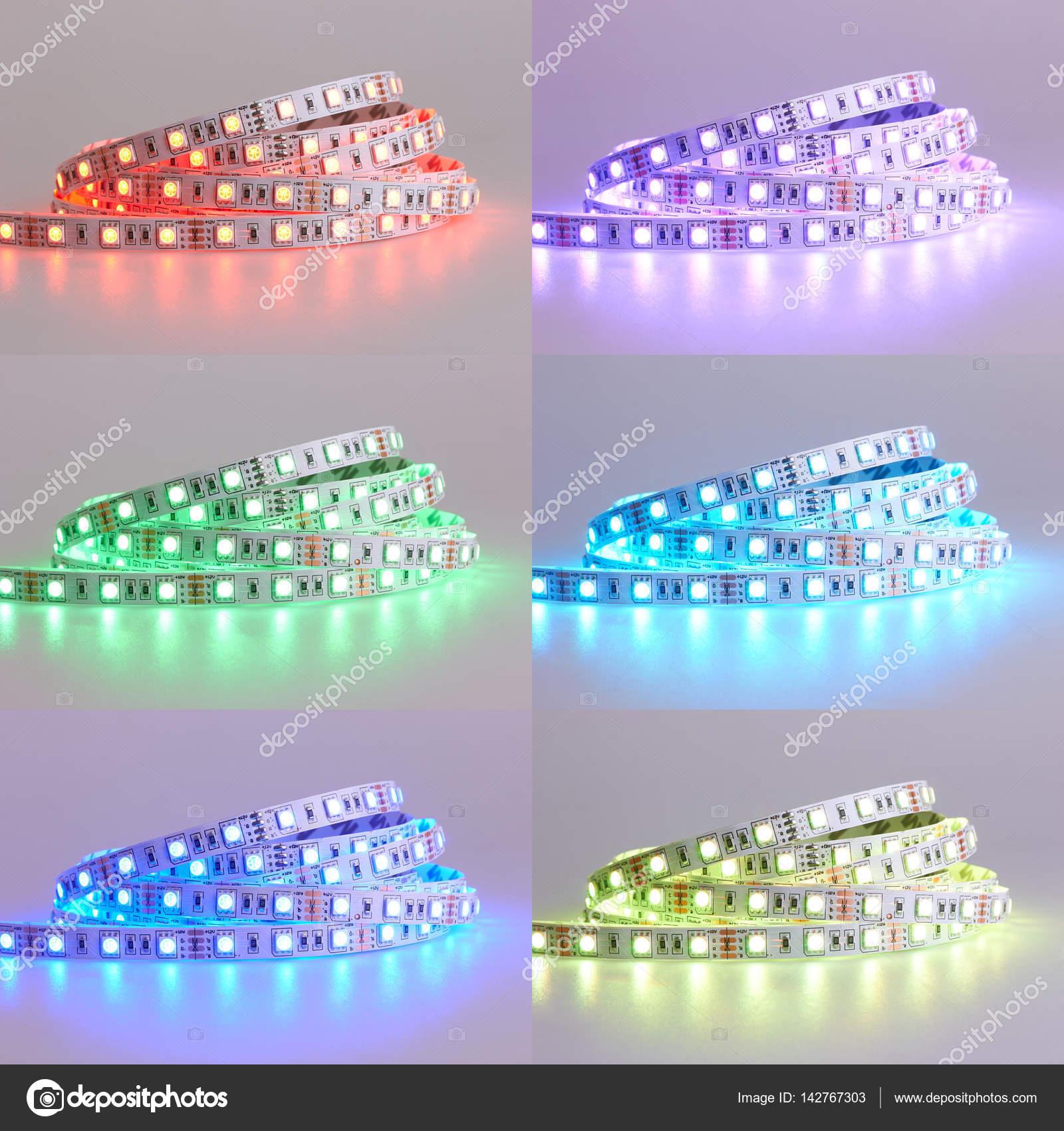 Set van Diode strip. LED verlichting tape — Stockfoto © krasyuk ...