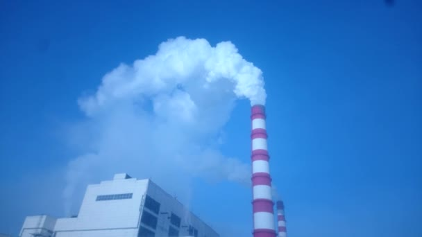 Průmyslové znečištění. Kouř z komína