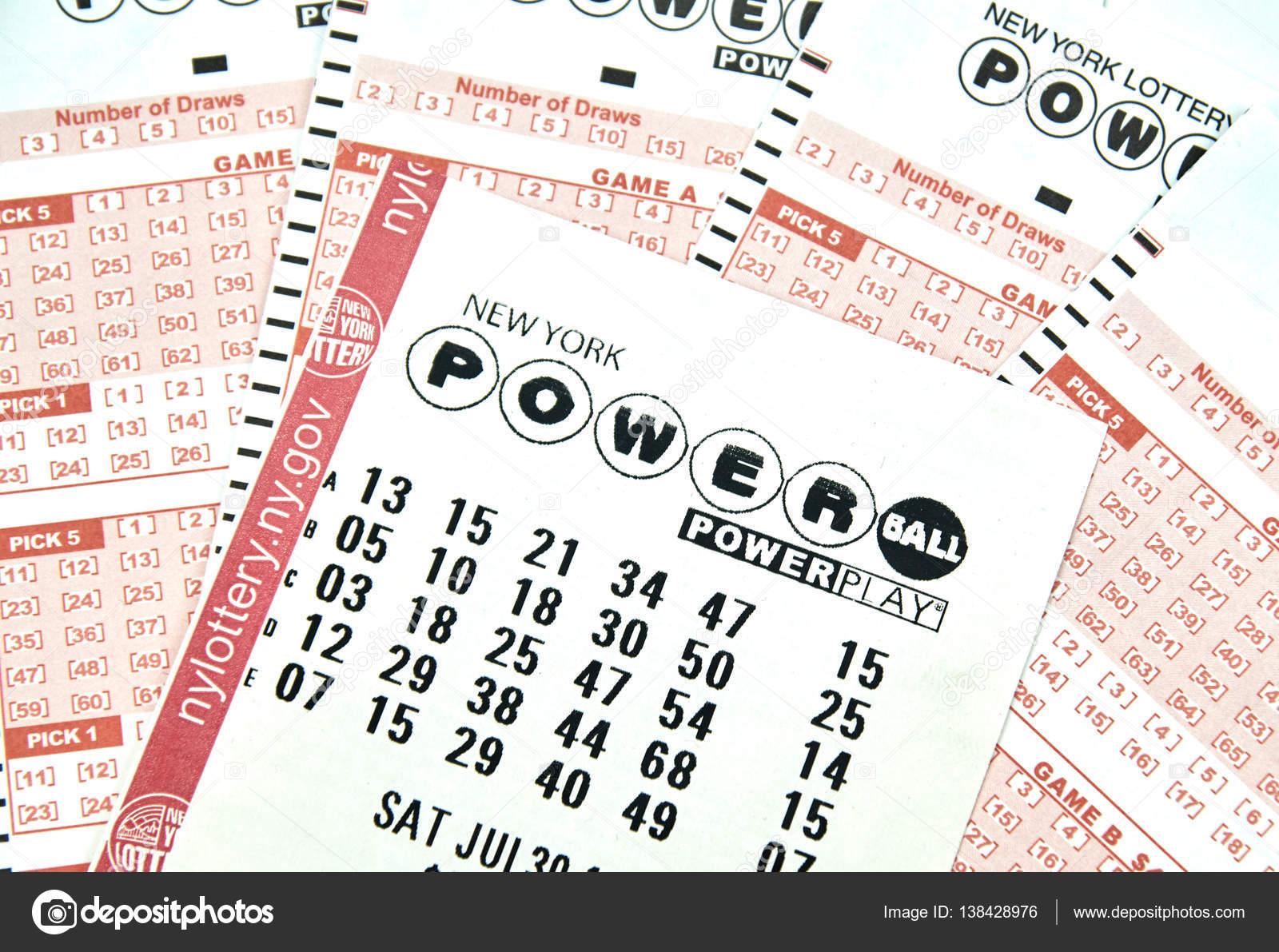 Powerball lottery tickets – Stock Editorial Photo © dennizn