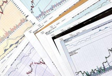 AAPL , GOOG, AMZN, FB tickers candlestick graphs