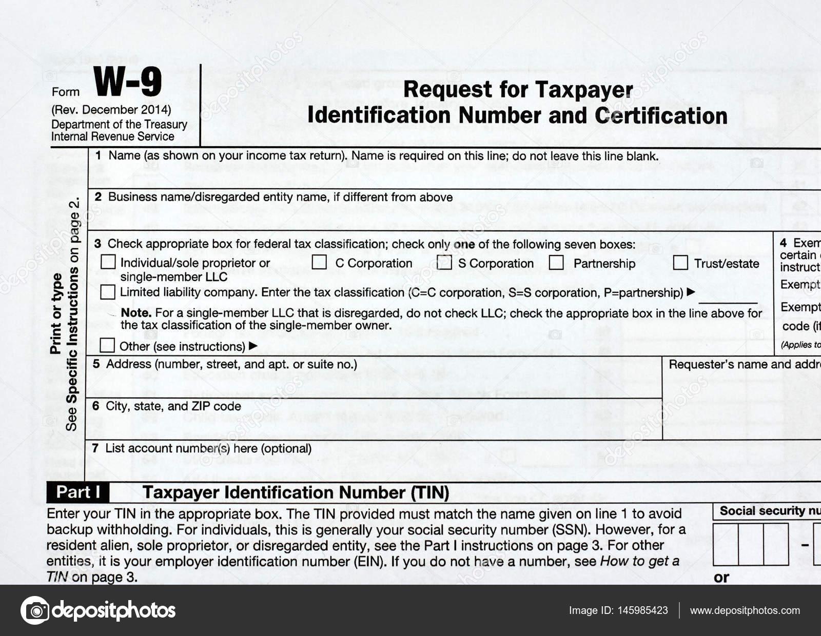 W 9 Form Usa Peopledavidjoel