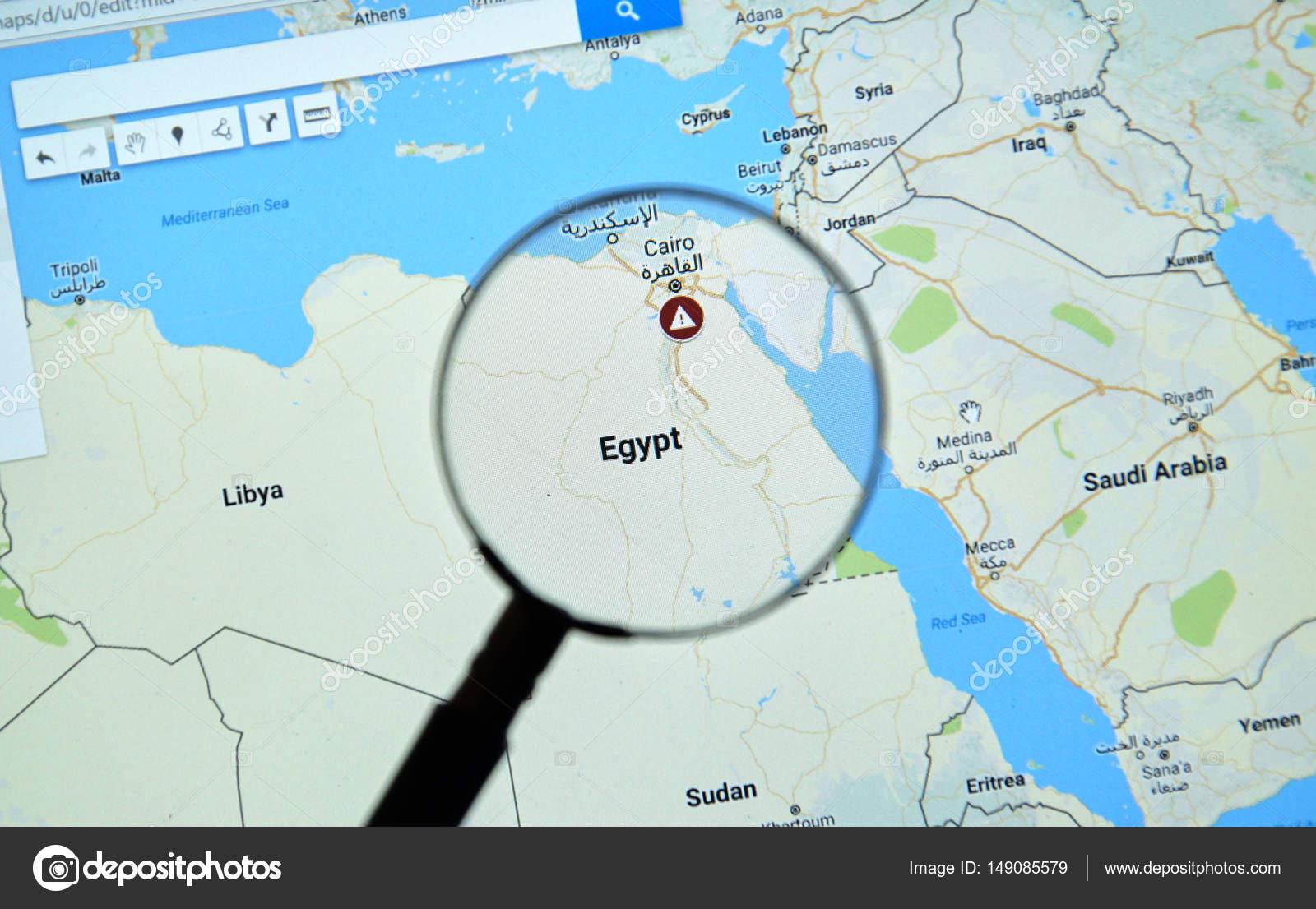 Egypt and Cairo on Google Maps – Stock Editorial Photo © dennizn ...