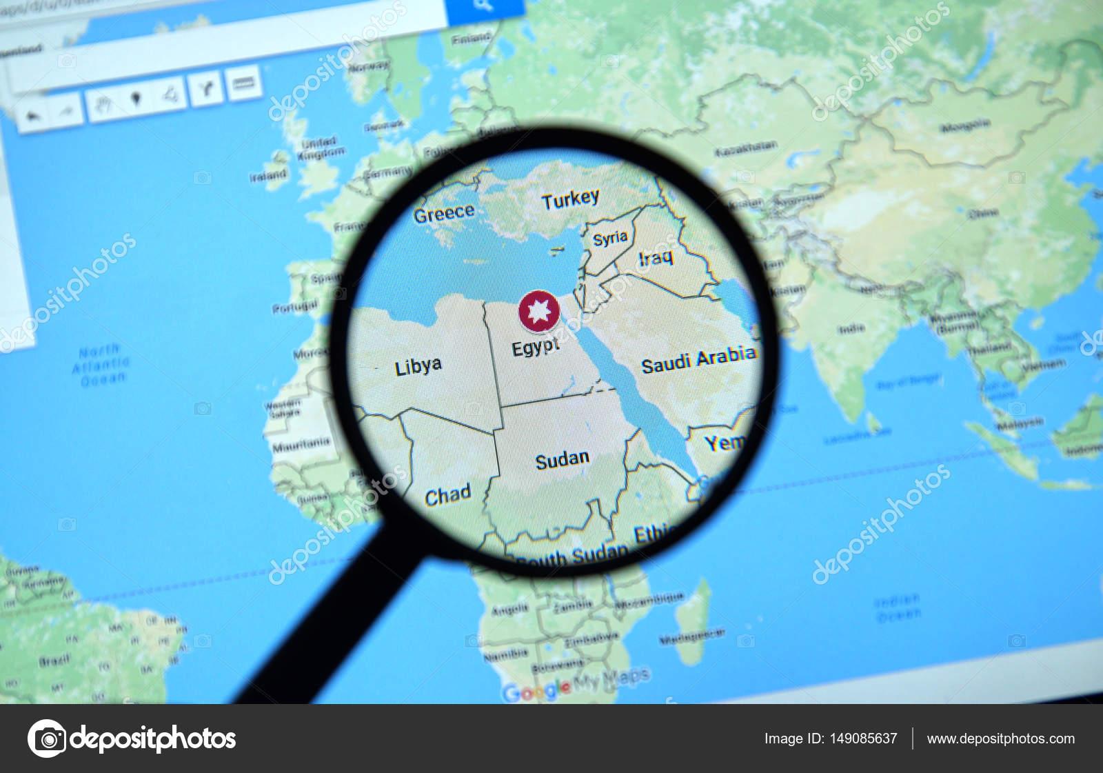 Egypt on google maps stock editorial photo dennizn 149085637 egypt on google maps stock photo gumiabroncs Gallery