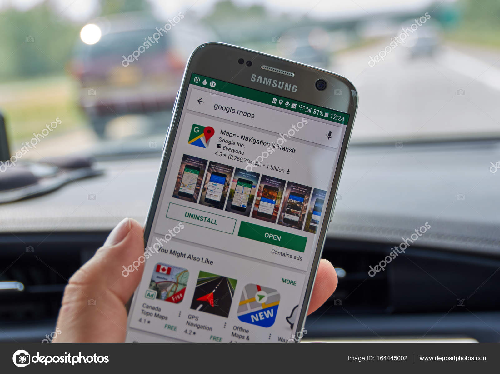 Google Maps Mobile Application Stock Editorial Photo C Dennizn