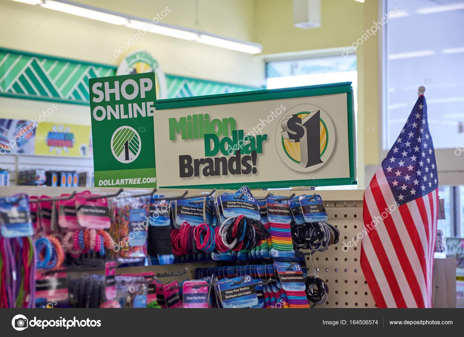 Dollar Tree shop online signage  – Stock Editorial Photo