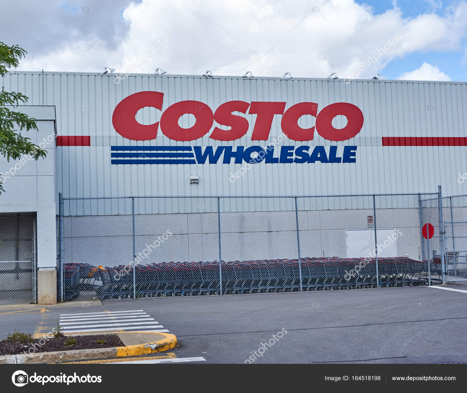 costco wholesale store and logo � stock editorial photo