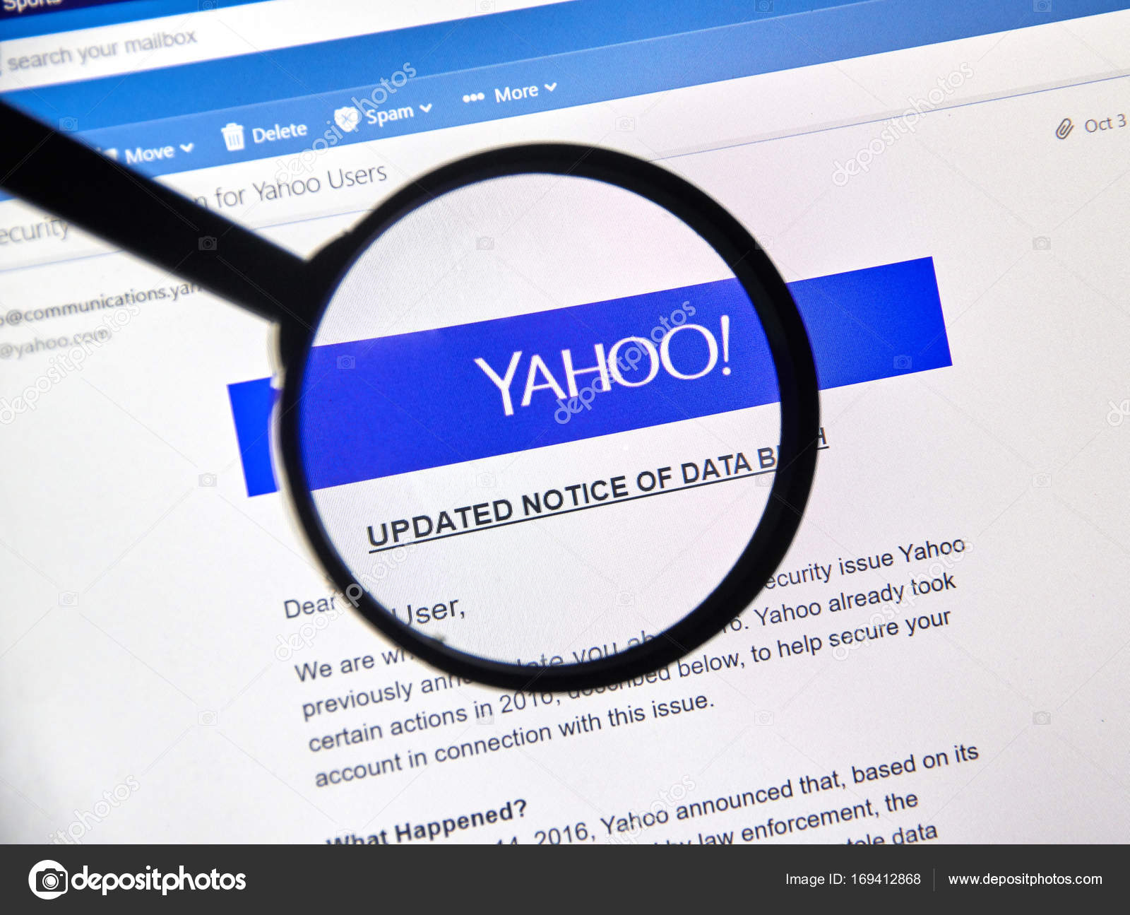 Yahoo updated Notice of newly discovered data breach – Stock