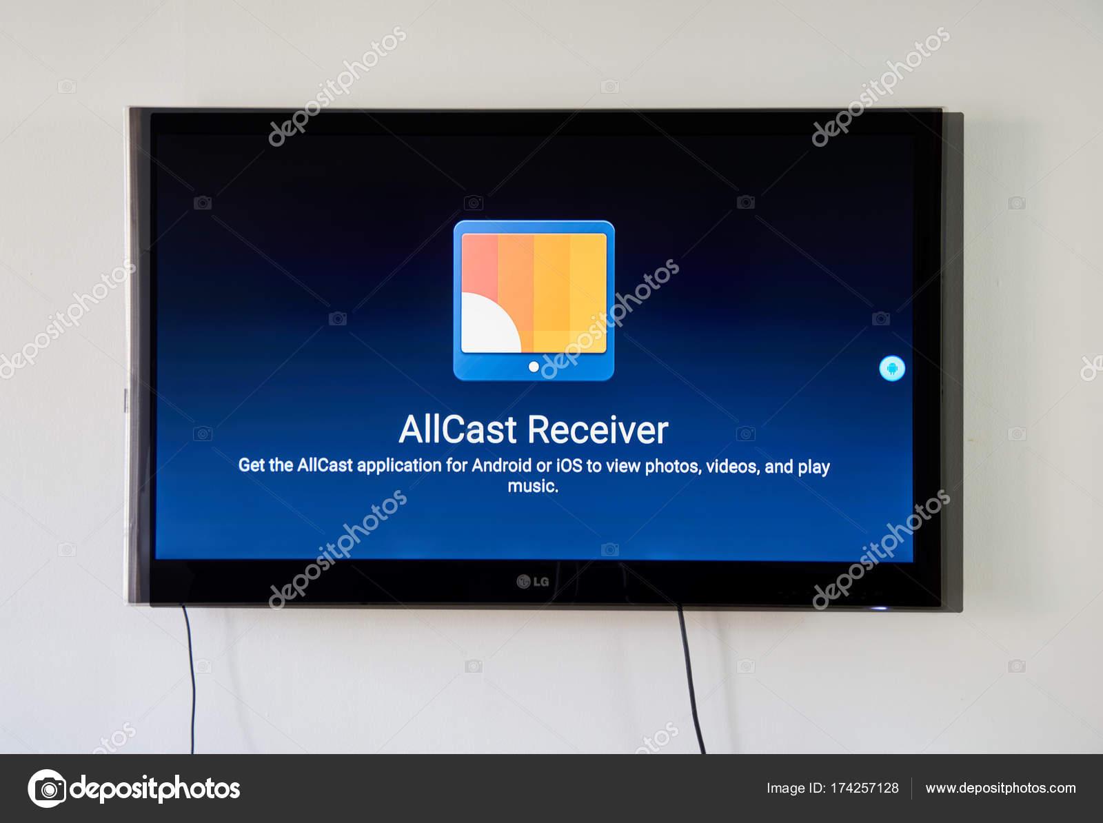 Montreal Canada November 2017 Allcast Receiver App Screen
