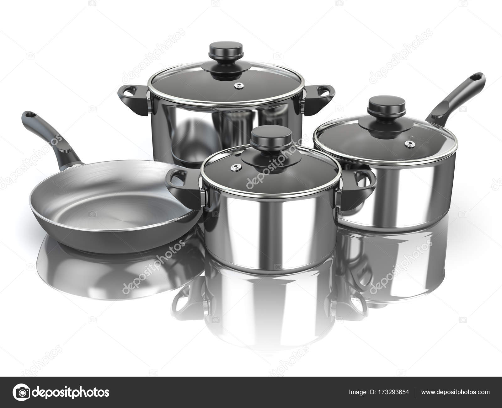 Pentole e padelle. Gli utensili da cucina in acciaio inox per ...