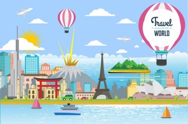 background for travel and attractions