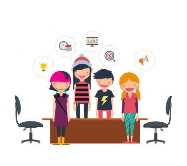 Coworking freelancers team