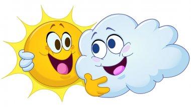 Hugging sun and cloud