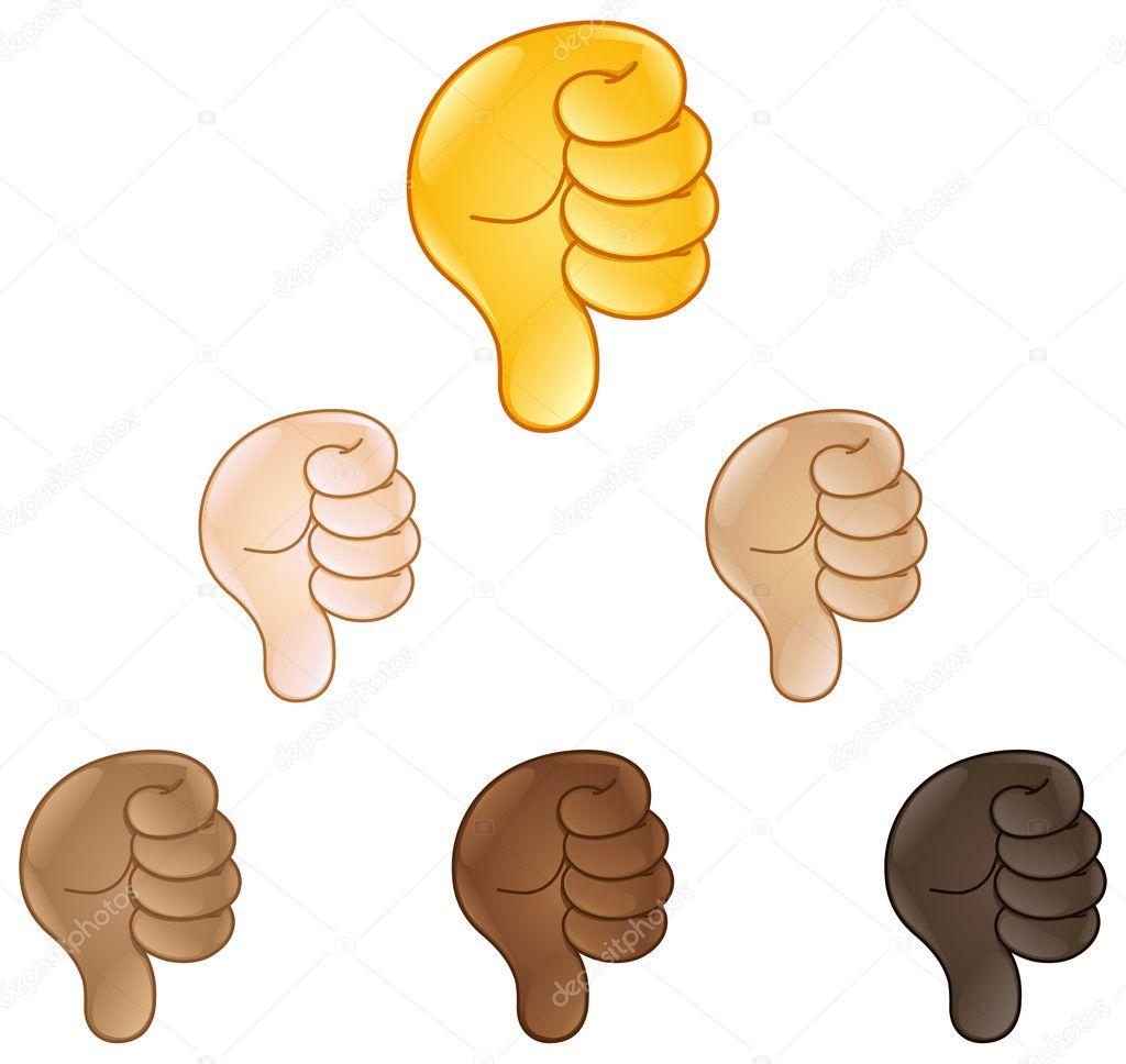 Thumbs Down Hand Sign Emoji Stock Vector Yayayoyo 126069092