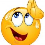 Essuyant la sueur émoticône Illustration De Stock