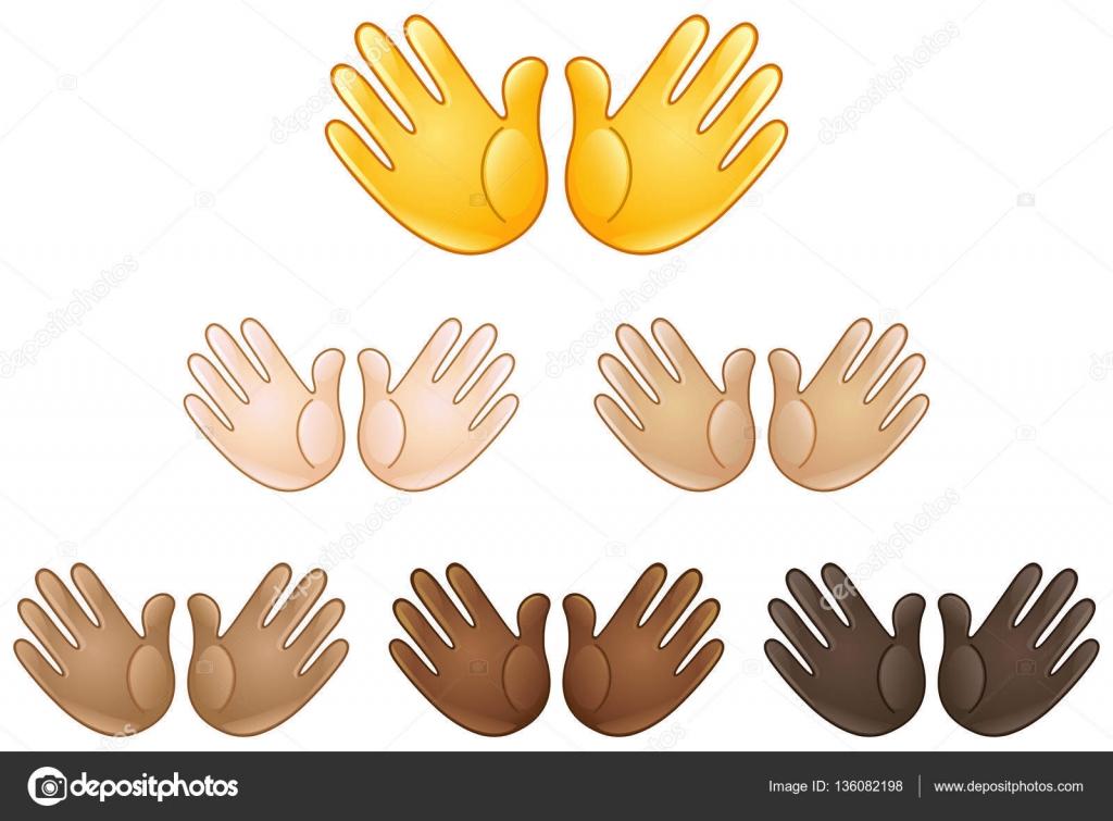 Mani aperte iscriviti emoji vettoriali stock yayayoyo for Scarica clipart