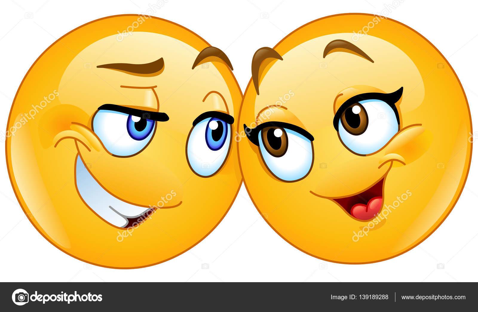 Loving emoticons couple u stock vector yayayoyo